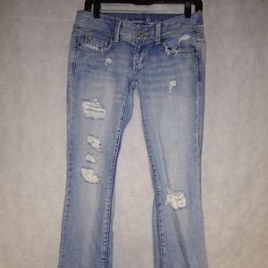 American Eagle Distressed Slim Boot Jeans Size 0